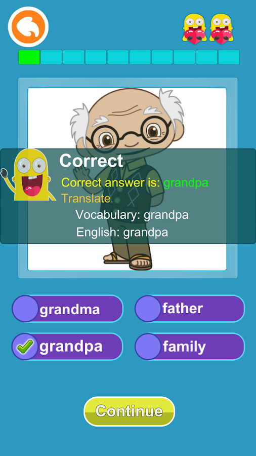 English Vocabulary:puzzle game- screenshot