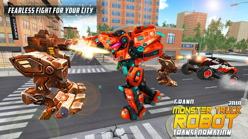 Real Robot Transform Monster Truck Fight ss3