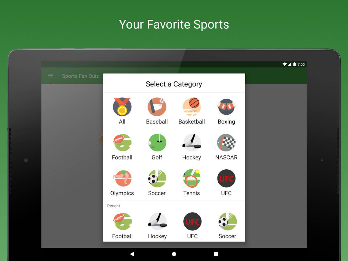 Sports Fan Quiz - NFL, NBA, MLB, NHL, FIFA +- screenshot