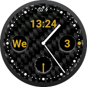 Carbon Gold Watch Face