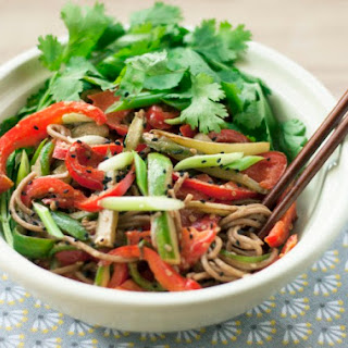 Cold Soba Noodles with Peanut Sauce Recipe