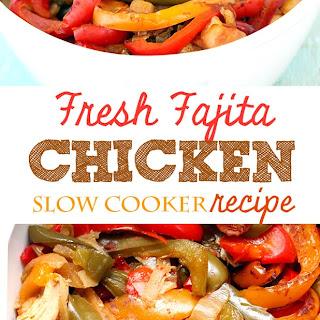 Fajita Slow Cooker Chicken