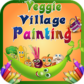 Veggie Village Painting