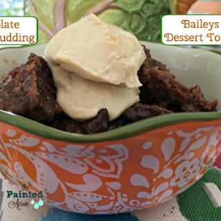 Take-out Tuesday, Slow Cooker Chocolate Bread Pudding with Bailey's Dessert Topping.