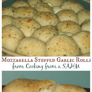 Mozzarella Stuffed Garlic Rolls