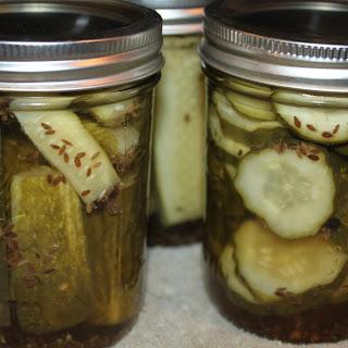 Crisp Dill Pickles.