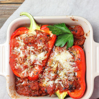 Italian Stuffed Peppers with Ricotta #DairyWeek.