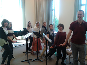 Photo: Members of Sing! in rehearsal for their lunchtime concert on day Five of Summer Music Week.
