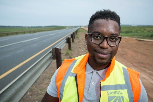 Thabiso Dladla, part of the South African National Roads Agency (SANRAL's) training programme.
