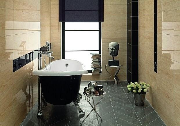 Łazienka wykończona płytkami
