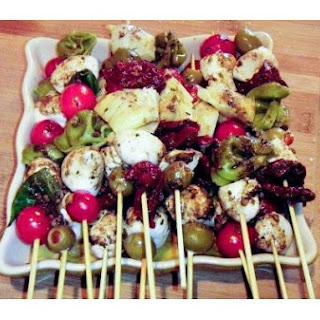 Mediterannean Salad Skewers