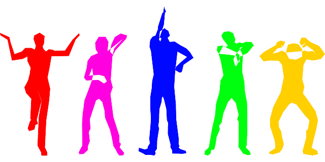 Free vector graphic: Human, Group, Dancing, Standing ...