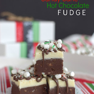 Candy Cane Hot Chocolate Fudge