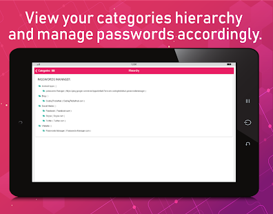 Password Manager : Store & Manage Passwords. Screenshot