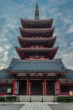 Photo: Sensoji's 5 Story Pagoda  Earlier this week I took a trip down to Asakusa in Tokyo with my oldest daughter. She's been getting into photography, and about to turn 6 (which means she'll cost half price on the trains instead of being free), so it seemed like as good a time as any to take a little trip together. It was also nice for me, as it was a chance to really test out my new 16-35mm lens on my also new D610. This was one of my favorite shots, and solidified how good a combo these will be. Incidentally, this photo has an HDR feel to me, but it's actually not. This was edited primarily in lightroom from a single RAW file shot handheld. Pretty amazing how much detail can be gathered from these files.  More at my blog: http://lestaylorphoto.com/the-five-story-pagoda-of-sensoji/  #japan #travel #tokyo #photography #nikon #cooljapan