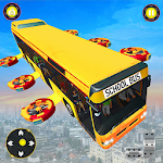 Flying School Bus Driving Game icon