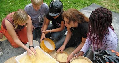 Photo: Il setaccio della farina per fare la polenta