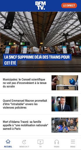 BFMTV - Actualitu00e9s France et monde & alertes info 4.2.5 Screenshots 1