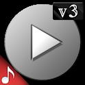 Poweramp v3 skin simple dark icon
