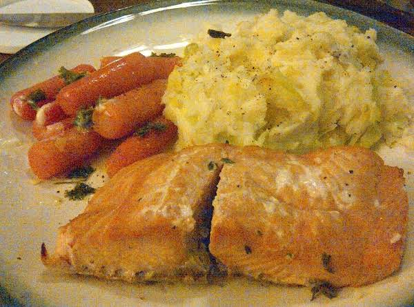 Salmon,colcannon And Parsley Carrots