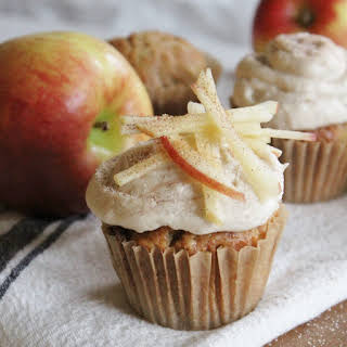 Apple Cupcakes with Caramel Buttercream.