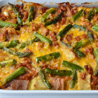 Overnight Egg and Breakfast Sausage Strata.