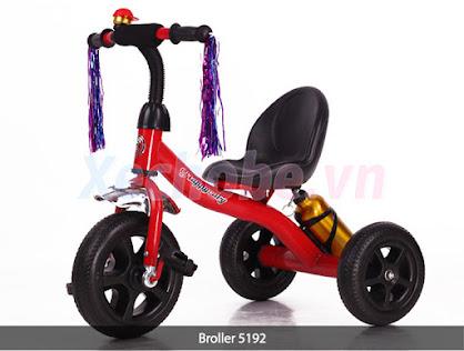 xe ba bánh có bàn đạp cho bé broller