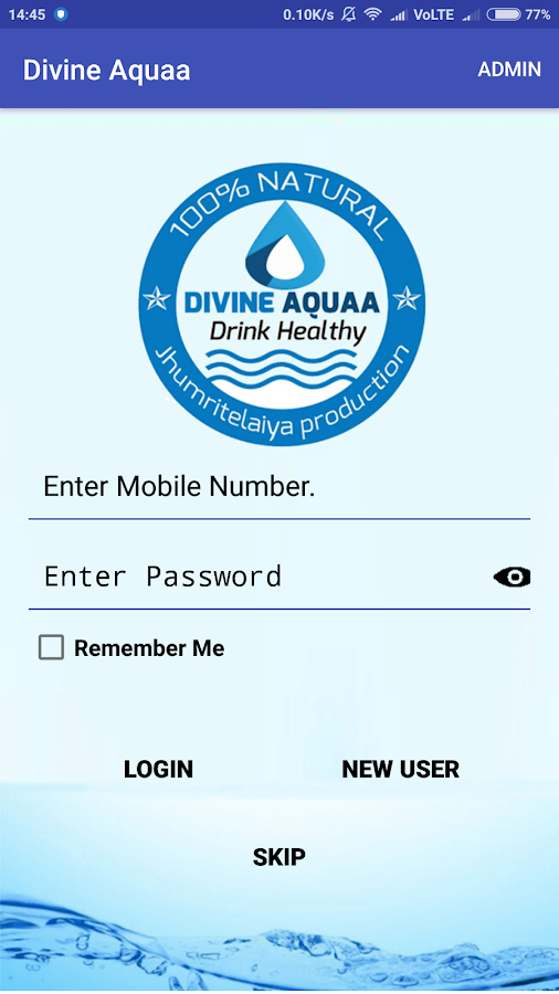 Divine Aquaa - Mineral Water Delivery App- screenshot