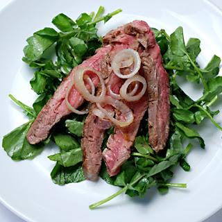 Flank Steak with Watercress Salad