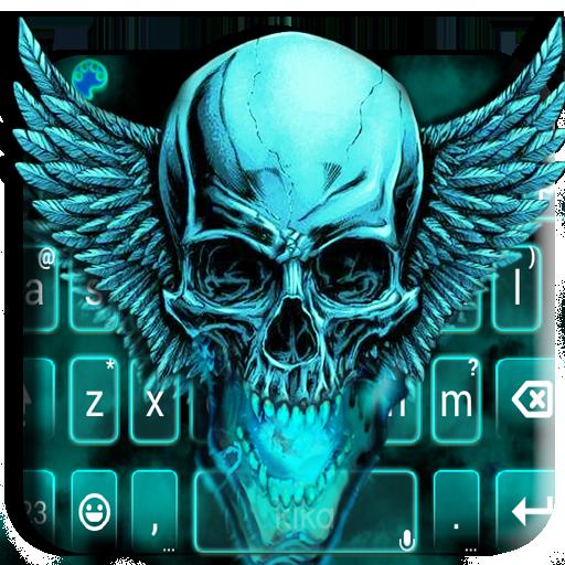 App Insights: Neon Green 3d Skull Keyboard Theme | Apptopia