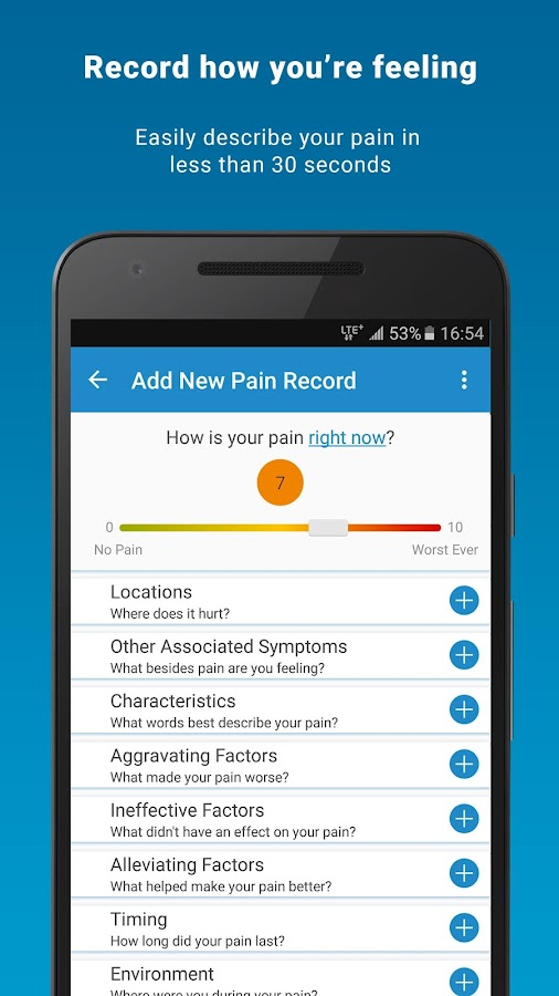 Manage My Pain Lite- screenshot