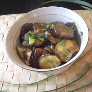 Egg Plant and Beef with Sweet and Sour Sauce