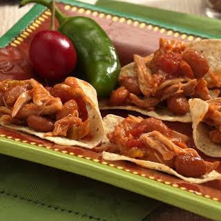 Slow-Cooker Shredded Chicken Nachos.