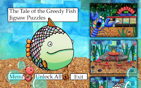 Greedy Fish Kids Jigsaw Puzzle- screenshot thumbnail