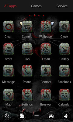 Black Cat Go Launcher Theme - screenshot