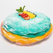 """Rainbow Warhol Mille-Crêpe Cake (Mango, Strawberry, Blueberry 9.5"""" Whole Cake) 🥭"""
