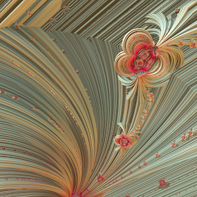 Sweet Emotions by Glenda Popielarski - Illustration Abstract & Patterns ( m3d, abstract art, green, digital art, fractal art, mandelbulb 3d, pink, mb3d, fractals )
