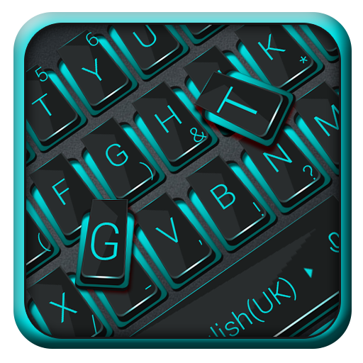 Neon Blue And Matt Black Keyboard Android APK Download Free By Bs28patel