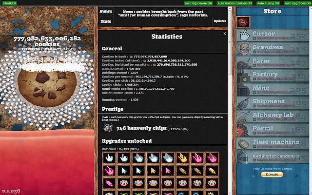Cookie clicker, clicker
