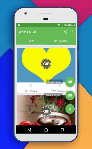 Whats a Gif - GIFS Sender(Saver,Downloader, Share) 2.2.9.5 screenshots 3