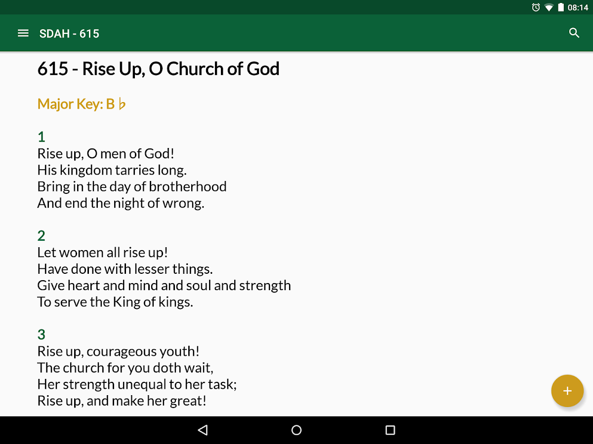 SDA Hymnal- screenshot