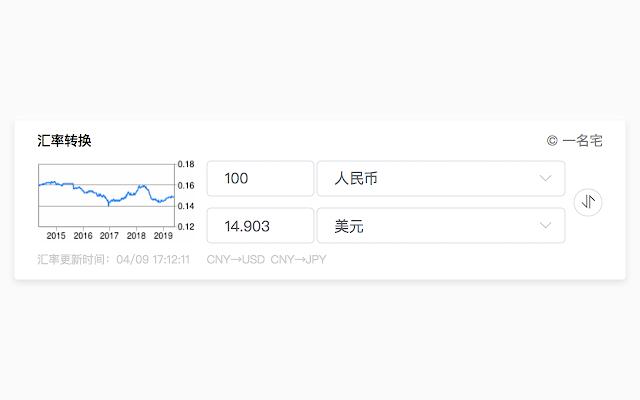 谷歌汇率转换小工具