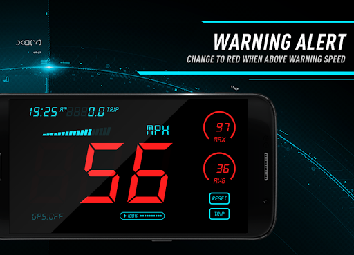 Hud Speedometer - Car Speed Limit App with GPS 1.3 screenshots 4