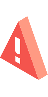 "A red alert icon, representing ""don't fall for fake"""