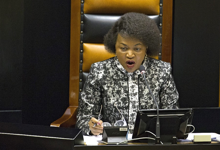Speaker of Parliament Baleka Mbete. Picture: EPA/NIC BOTHMA