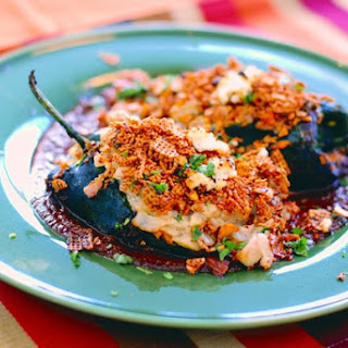 Chicken Stuffed Poblanos with Chile Cherry Mole