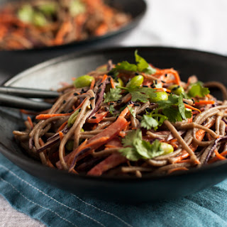 Easy Tahini and Soba Noodle Salad (gluten free)