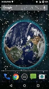 3D Moving Earth Live Wallpaper 3