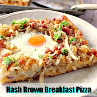Sunny Side Up Hash Brown Breakfast Pizza.