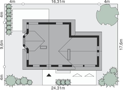 Dom przy Cyprysowej 15 - Sytuacja